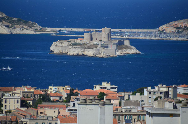 Blick auf Château d'If, das bekannte Gefängnis des Grafen von Monte Christo