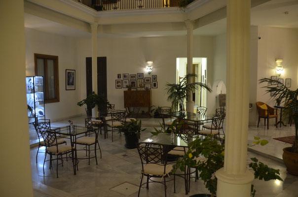 Innenhof unseres Hotels