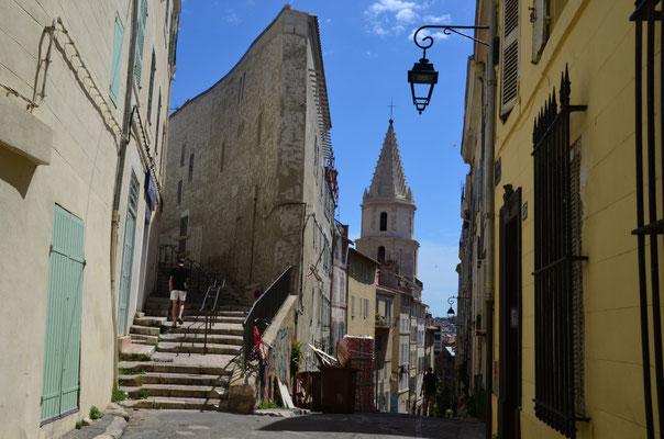 in den Straßen des alten Marseille