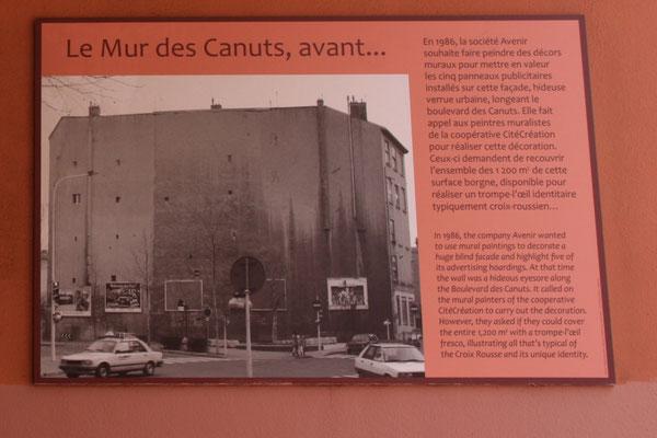 So sah die Wand, Rückseite eines Wohnblocks, vor 30 Jahren aus .......