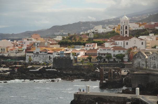 Aussicht auf Garachico vom Mirador los Emigrantes Canarios