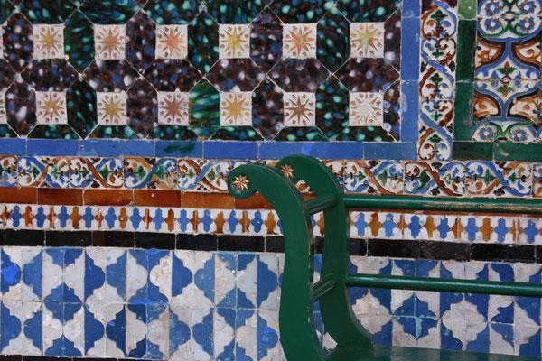 """Im Casa de Pilatos, das ähnlich wie der Alkazar reich mit """"azuleijos"""" geschmückt ist."""