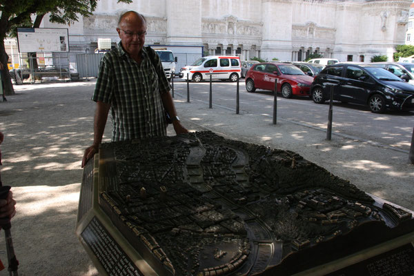 Modell der Stadt Lyon