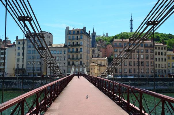 Fußgängerbrücke über die Saône