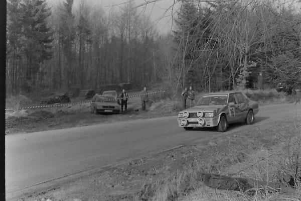 ADAC-Sachs-Winterrallye Etappe Hils 20. Februar 1982