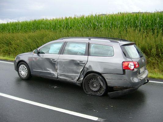 Dieser Wagen wurde gestreift