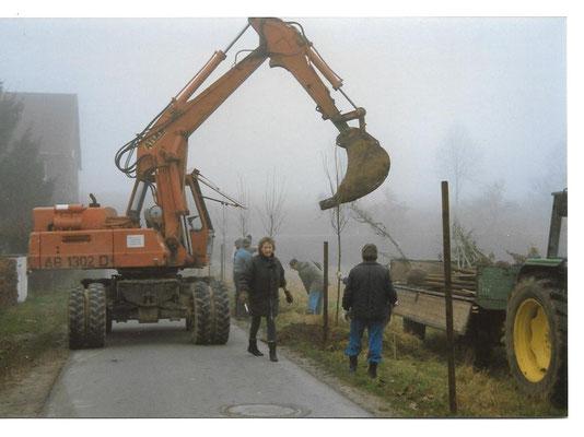 Baumpflanzaktion Herbst 1992