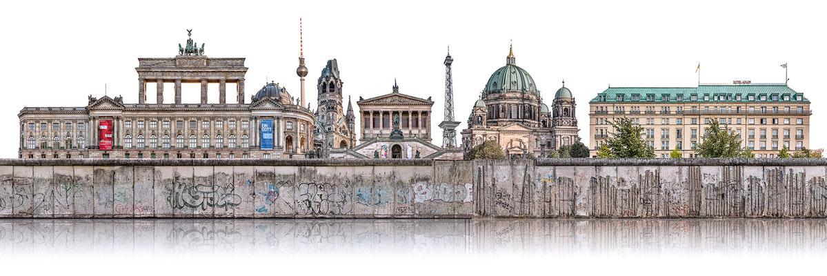 Berliner Mauer 4d  ·  180 x 60 cm · Leinwand auf Keilrahmen: € 910,- ·  Aludibond: € 1.130,- · Acrylglas auf Aludibond: € 1.340,-  · © Stefan Korff