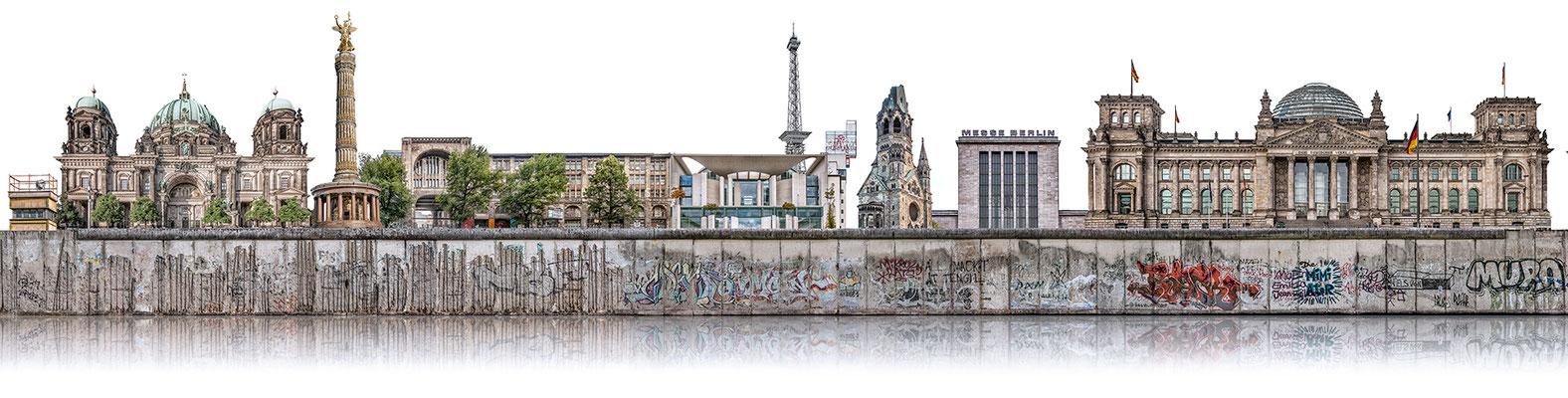 Berliner Mauer 4a  ·  200 x 50 cm · Leinwand auf Keilrahmen: € 830,- · Aludibond: € 1.040,- · Acrylglas auf Aludibond: € 1.270,-  · © Stefan Korff