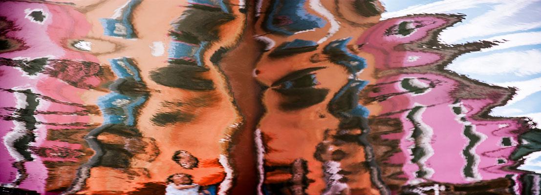 Venezianische Unterwelten XVI · 220 x 80 cm  · Preis auf Anfrage  ·  © Karena Kanamüller