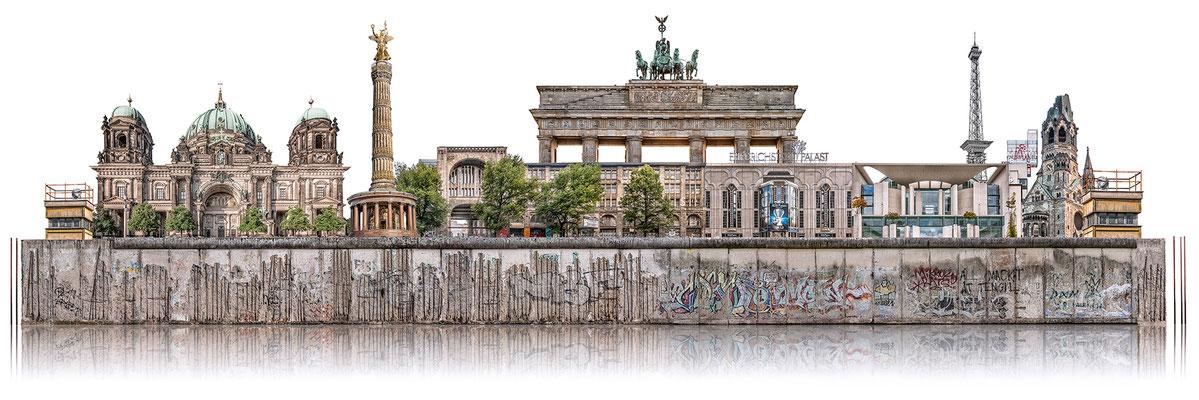 Berliner Mauer 3a  ·  180 x 60 cm · Leinwand auf Keilrahmen: € 910,- ·  Aludibond: € 1.130,- · Acrylglas auf Aludibond: € 1.340,-  · © Stefan Korff