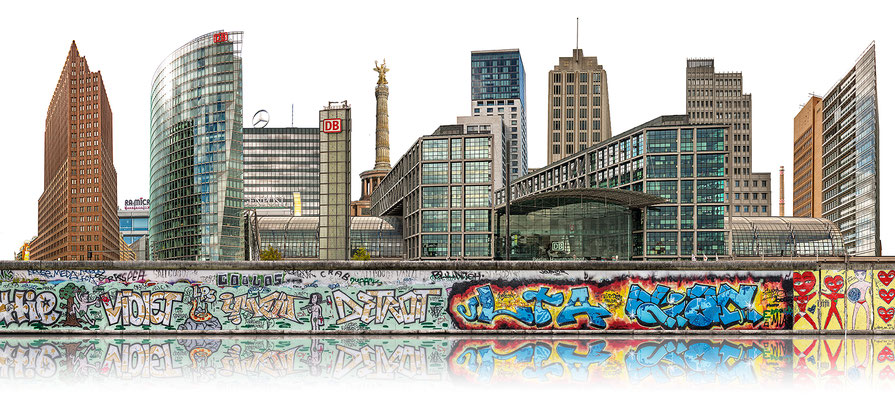 Berliner Mauer 2b  ·  200 x 90 cm · Leinwand auf Keilrahmen: € 1.330,- · Aludibond: € 1.720,- ·Acrylglas auf Aludibond: € 2.090,-  · © Stefan Korff