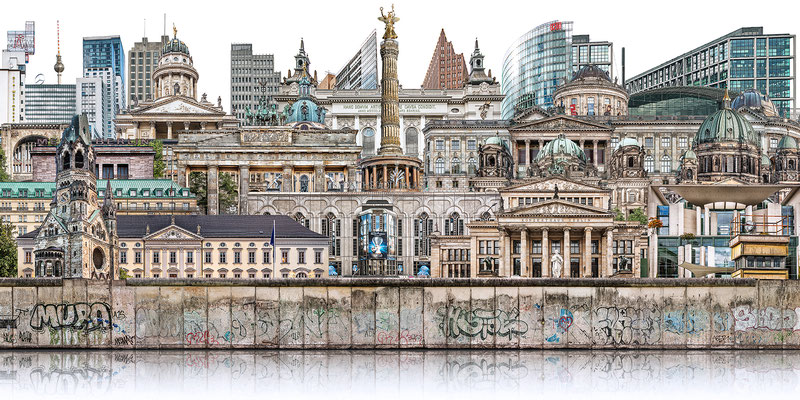 Berliner Mauer 7  ·  180 x 90 cm · Leinwand auf Keilrahmen: € 1.260,- · Aludibond: € 1.590,- · Acrylglas auf Aludibond: € 1.890,-  · © Stefan Korff