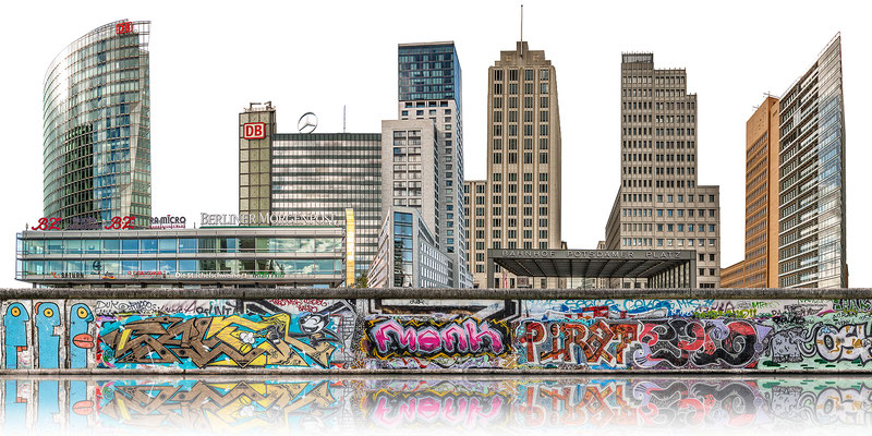 Berliner Mauer 2a ·  180 x 90 cm · Leinwand auf Keilrahmen: € 1.260,- · Aludibond: € 1.590,- · Acrylglas auf Aludibond: € 1.890,-  · © Stefan Korff