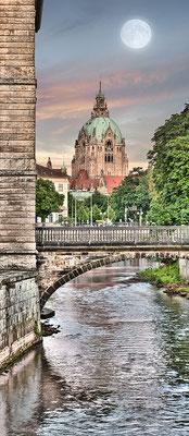 Kanal mit Rathaus, 65 x 150 cm  ·  Leinwand auf Keilrahmen: € 660,- · Aludibond: € 810,- ·Acrylglas auf Aludibond: € 980,-  · © Stefan Korff