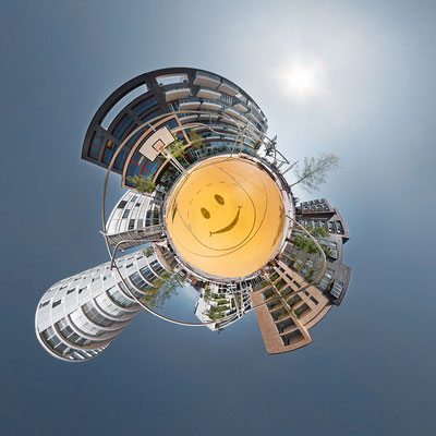Neue Speicherstadt V · 90 x 90 cm · Leinwand auf Keilrahmen: € 640,- ·  Aludibond: € 780,- ·  Acrylglas auf Aludibond: € 940,-  · © Stefan Korff