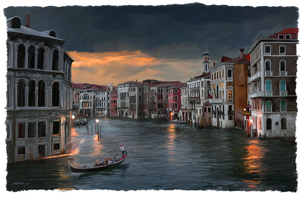 Venedig Canale Grande I · 110 cm x 70 cm · Leinwand auf Keilrahmen: € 680,-