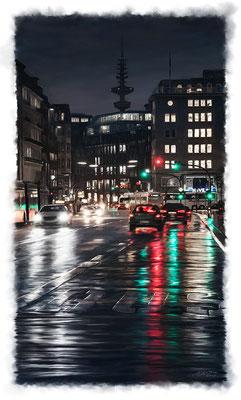City Lights · 80 cm x 140 cm · Leinwand auf Keilrahmen: € 920,-