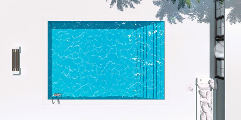 Ausblick Pool I · 190 x 95 cm  · Aludibond: € 1.680,- ·Acrylglas auf Aludibond: € 1.980,-  · © Stefan Korff