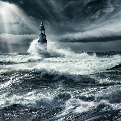 Hamburgs Michel im Klimawandel