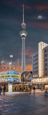 Fernsehturm, 60 x 145 cm  ·  Leinwand auf Keilrahmen: € 590,- · Aludibond: € 730,- ·Acrylglas auf Aludibond: € 870,-  · © Stefan Korff