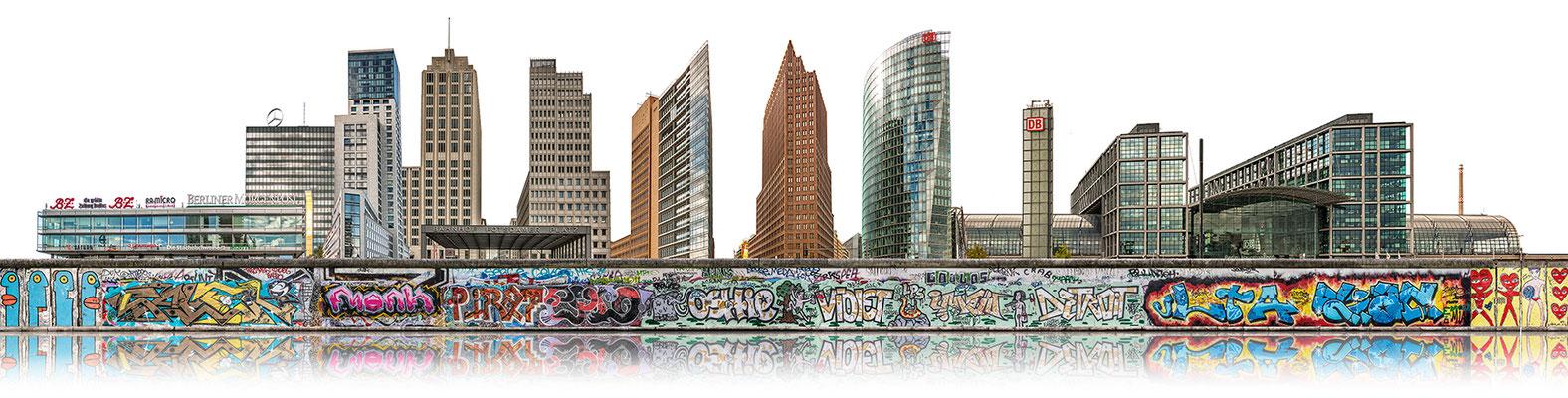 Berliner Mauer 2c  ·  230 x 60 cm · Leinwand auf Keilrahmen: € 1.090,- · Aludibond: € 1.370,- · Acrylglas auf Aludibond: € 1.670,-  · © Stefan Korff
