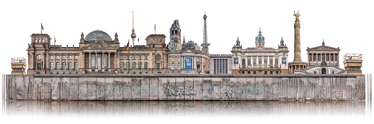 Berliner Mauer 3c  ·  180 x 60 cm · Leinwand auf Keilrahmen: € 910,- ·  Aludibond: € 1.130,- · Acrylglas auf Aludibond: € 1.340,-  · © Stefan Korff