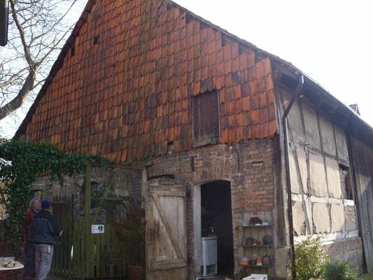 Scheunenumbau und Fassadensanierung - vorher