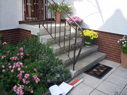 Blockstufentreppe Nr. 1 - vorher