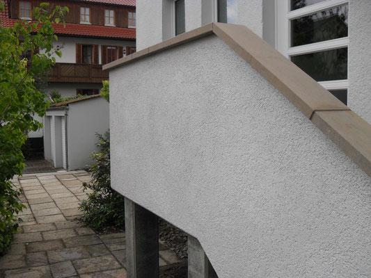 Thüster-Kalkstein Aussentreppe Nr.3 - nachher