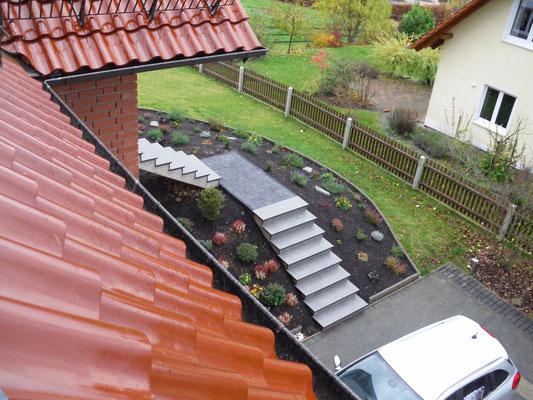 """Treppenrohling mit Granit """"Impala"""" Nr.3 - nachher"""