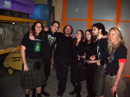 Reina, Chrigel (Eluveitie) & Hellvetica, March 2007