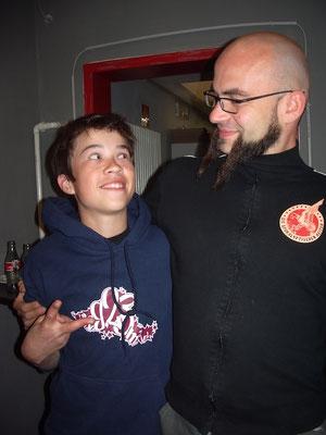 Our son Lukas handed Fuchs, Die Apokalyptischen Reiter, his first record.