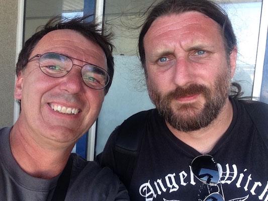 With Ben Ward (Orange Goblin), Hellfest 2018
