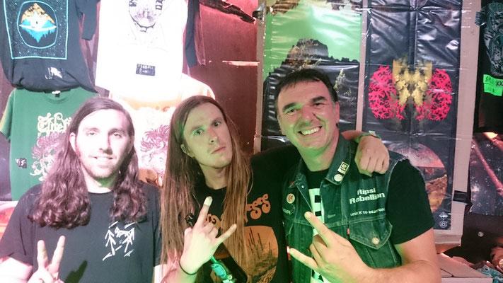 With Nick DiSalvo, Elder, Munich Backstage, July 2017