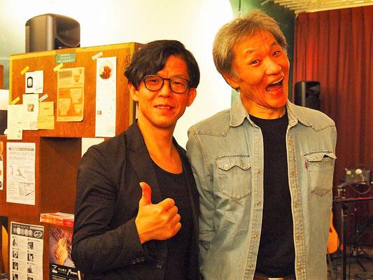 コラボゲストの中原慶樹氏と(写真右)