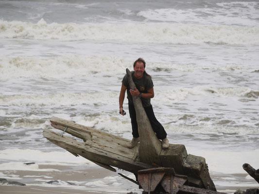 altes Schiffswrack an der Skeleton Coast