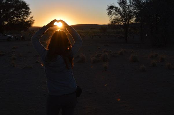 eingefangener Sonnenuntergang