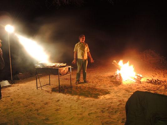 Klaus, der Feuerbeschwörer.