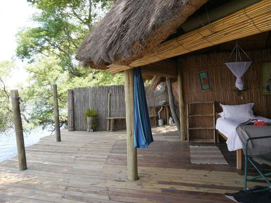 Schlafen mit Blick auf den Kavango