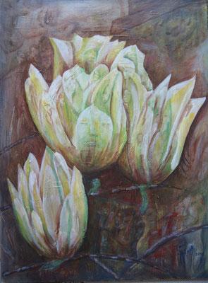 Magnolie   H52   60 x 80cm        Acryl aufHartfaser    Jul 14