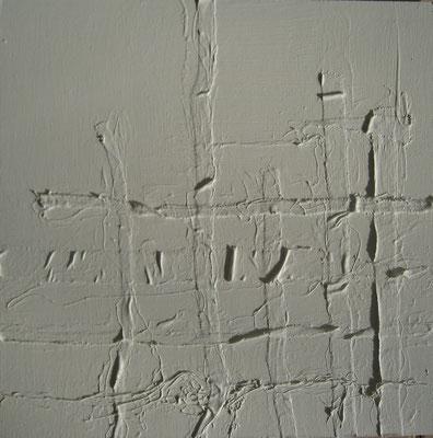 weiß gewebt  -  H62  -  40x40cm  -  Acryl auf Hartfaser  -  2014  -  230€