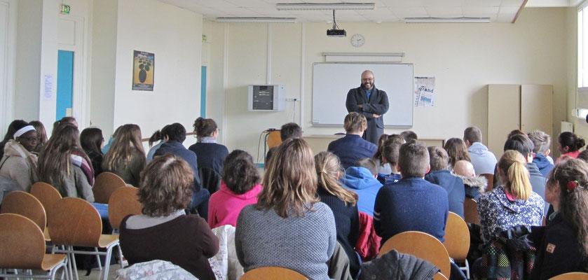 Fréderick Sigrist au Collège du Val d'Aure à Isigny-sur-Mer