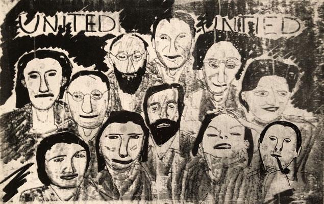 Jan Voss: United Untied, poster design, n.y.