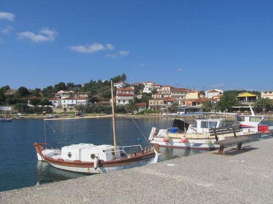 Finikounda, die Fischerboote
