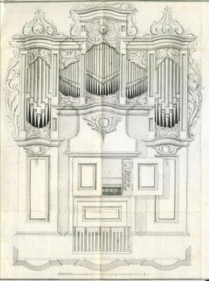 Driesen bei Lebus (heute polnisch Drezdenko): Prospektentwurf von Georg Friedrich Grüneberg (Stettin), 1804