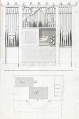 Prospektentwurf von Gottlieb Heise (Potsdam), 1834