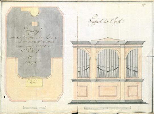 Lüdersdorf bei Gransee: Prospektentwurf von Joh. Tobias Turley (Treuenbrietzen), 1822