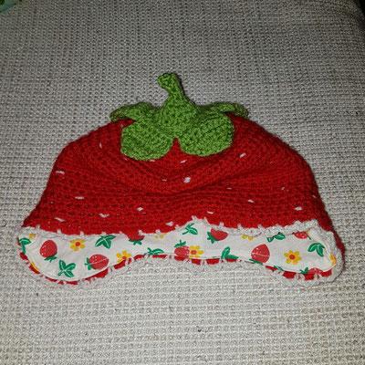 Baby Erdbeer Mütze Mit Ohrenklappen Häkeln Minnais Jimdo Page