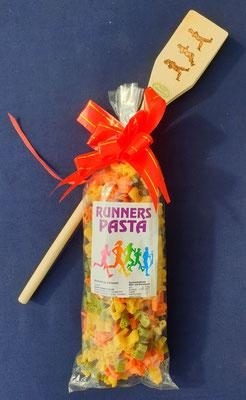 Runners Pasta mit Löffel Sportler Nudeln